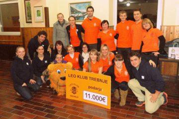 LEO Klub Trebnje pomagal zbrati več kot 11.000 € za 2-letni dvojčici