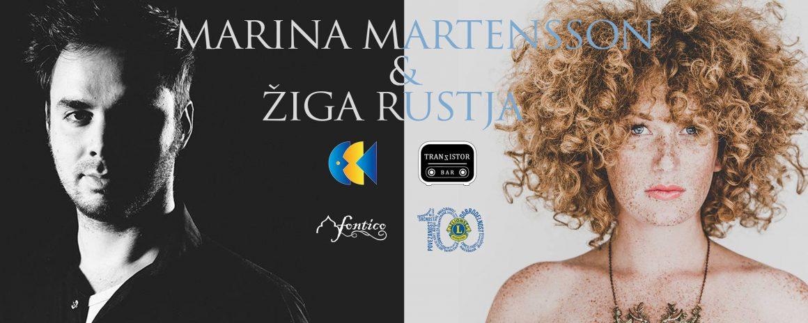 Dobrodelni koncert za Tjašo – Marina Martensson in Žiga Rustja