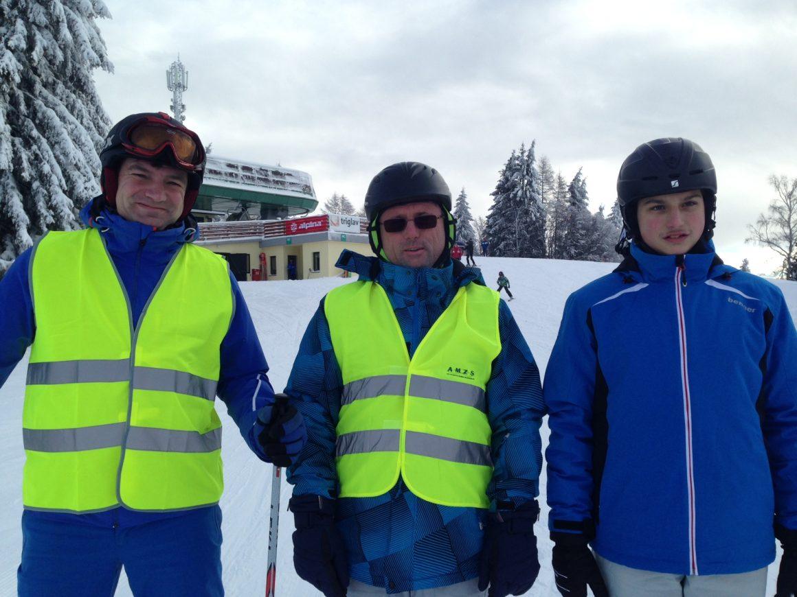LK Idrija - Dan na snegu za slepe in slabovidne na smučišču v Cerknem
