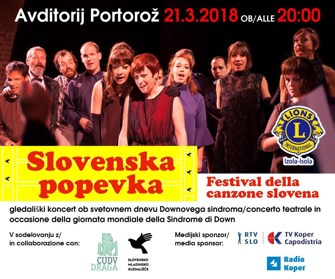 Slovenska popevka – gledališki koncert ob svetovnem dnevu Downovega sindroma