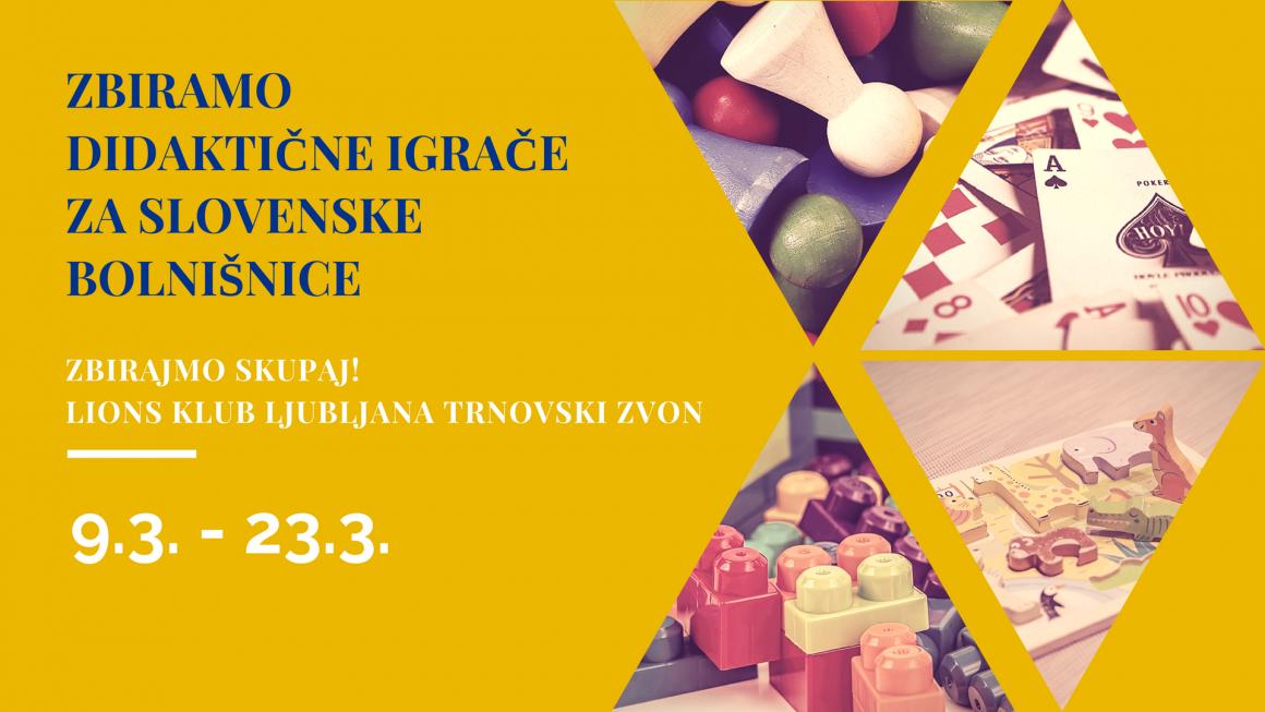 Zbiramo didaktične igrače za slovenske bolnišnice