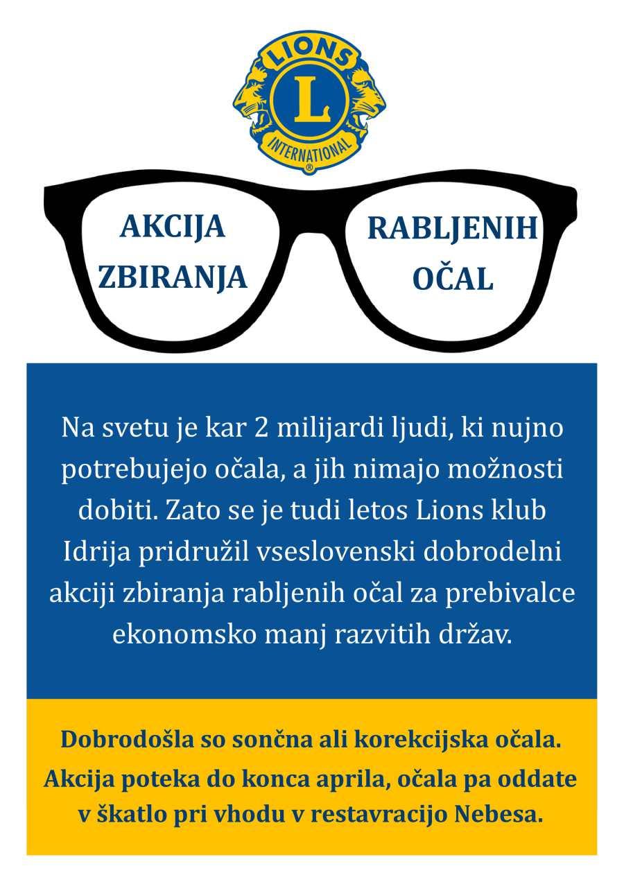 Akcija zbiranja rabljenih očal
