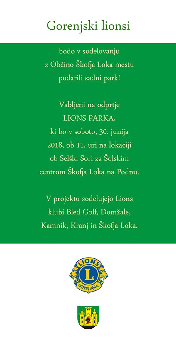 Gorenski Lionsi podarjajo hruškov park