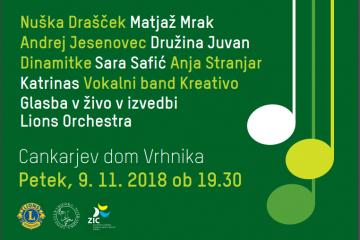 Dobrodelni koncert Lions kluba Vrhnika