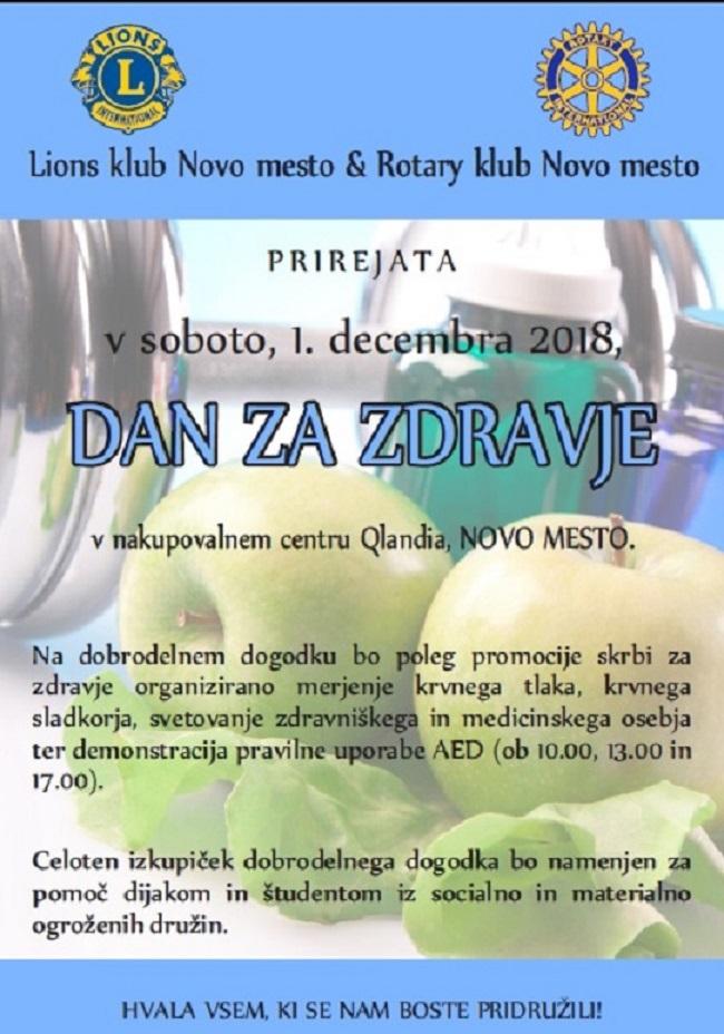 Dan za zdravje v novomeški Qlandiji - 1.december 2018