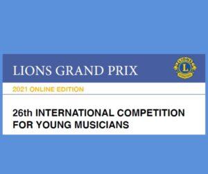 letak za Lions Grand Prix tekmpvanje za mlade glasbenike